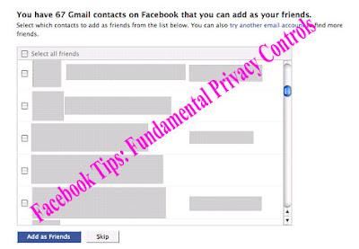 Facebook Tips: Fundamental Privacy Controls