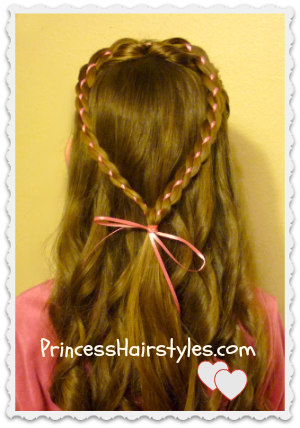 Valentines Day Heart Hairstyle Tutorial