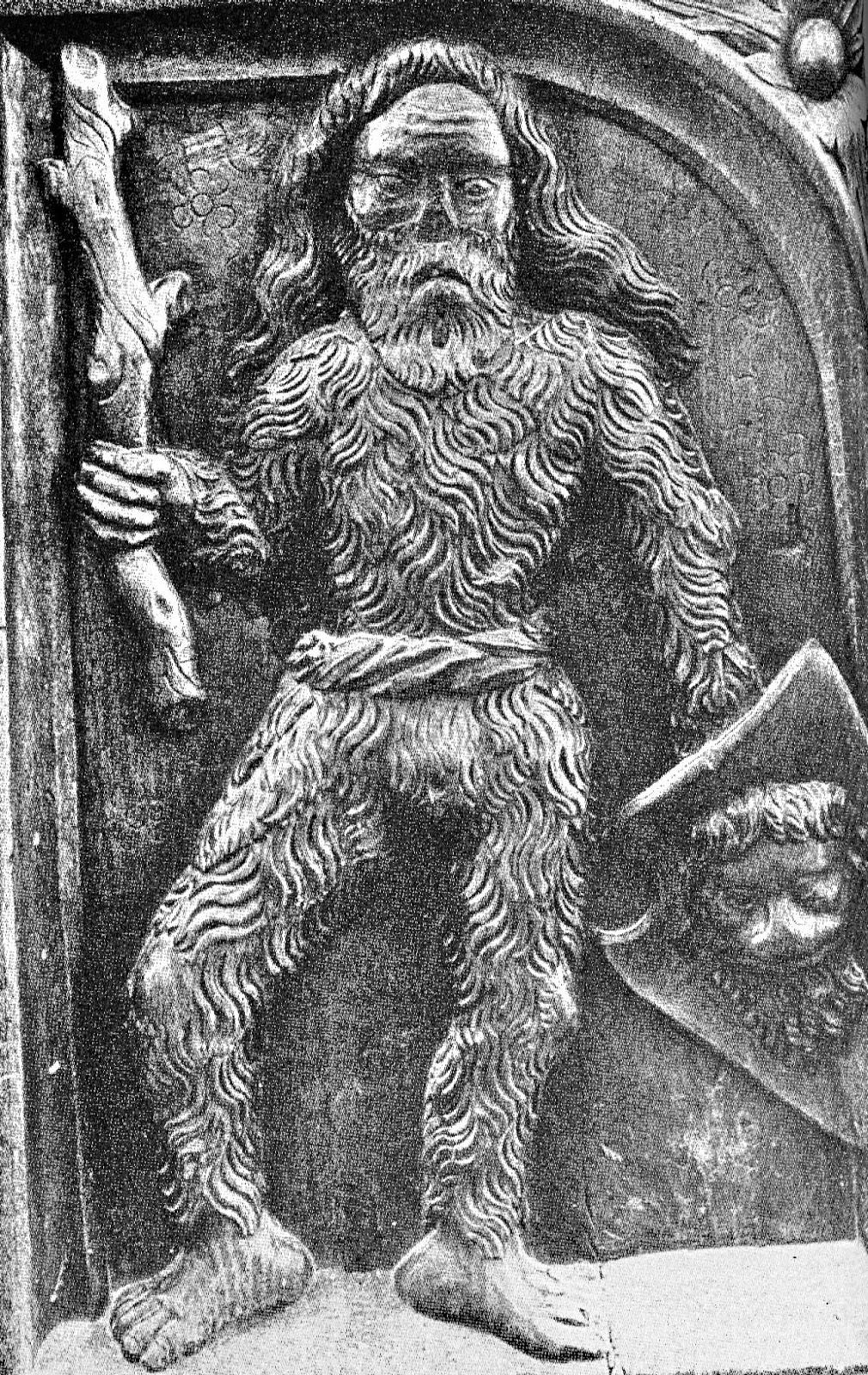 Bassorilievo raffigurante l'uomo selvatico, l'uomo di Bele