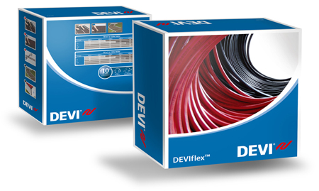 The New DEVImat under floor heating mat - new design for the DEVImat box