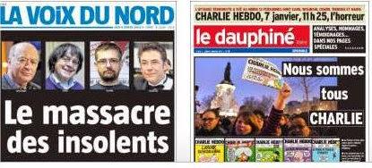 Charlie Hebdo La voix du nord le dauphine