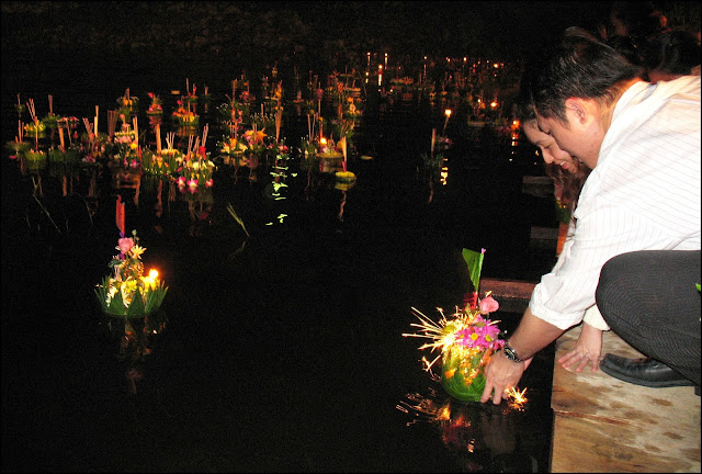 Floating a Krathong