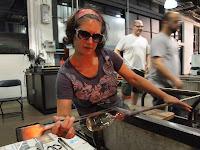 Lisa Horkin Blowing glass