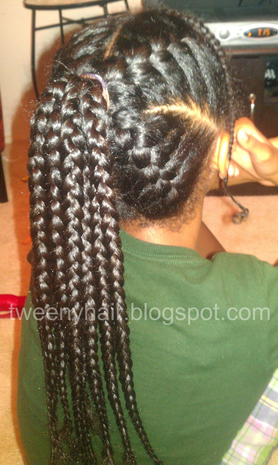 Tweeny Hair: French Braided Ponytail