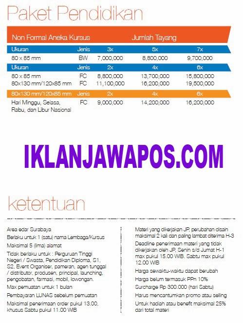 Jawa Pos Iklan Paket Pendidikan 2014