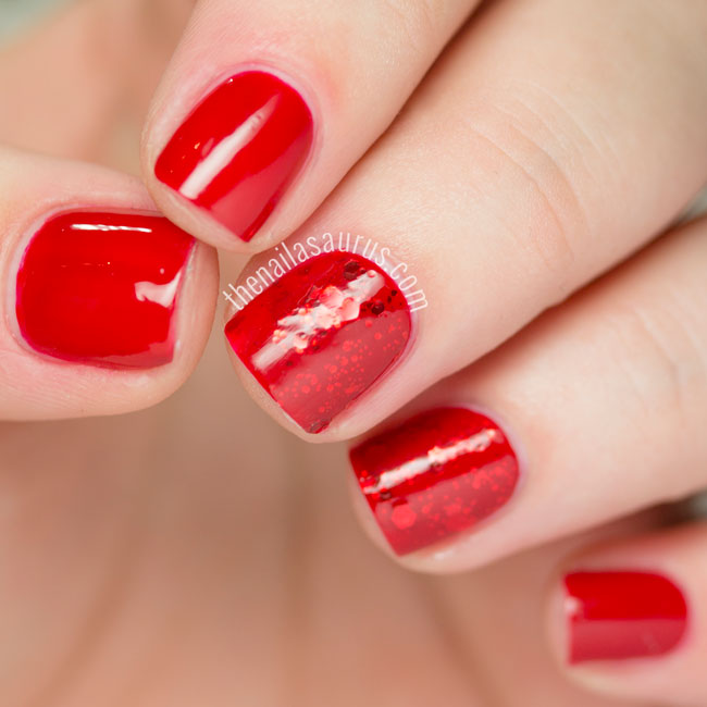 31DC2015 Red Nails with Barry M Gelly Red