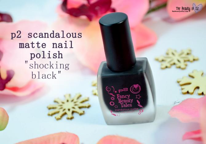 Review p2 Fancy Beauty Tales scandalous matte nail polish SHOCKING BLACK