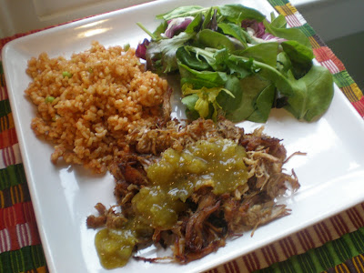 Crock Pot Wednesday: Mexican rice and carnitas