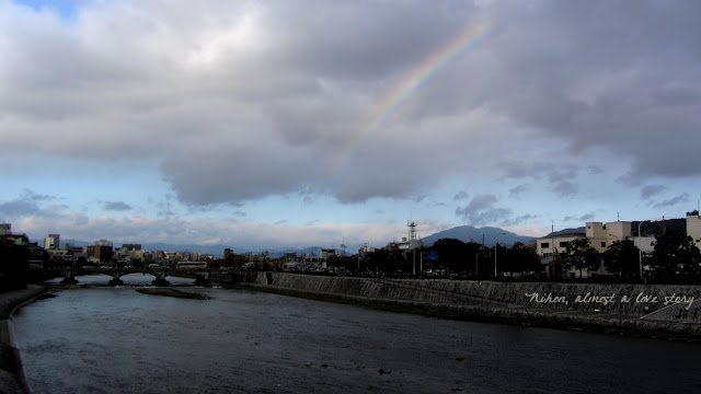Rainbow on Kamogawa
