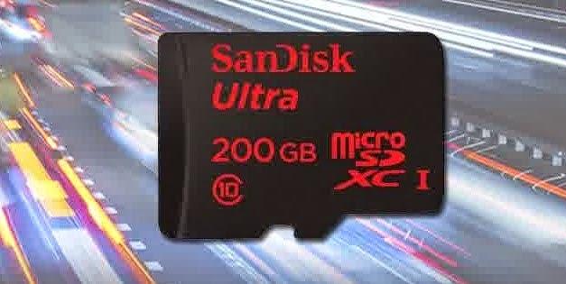 Sandisk Merilis  MicroSD Berkapasitas 200 GB