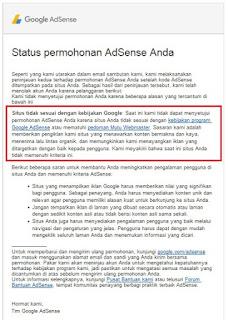 Google AdSense Ditolak Gimana Caranya?