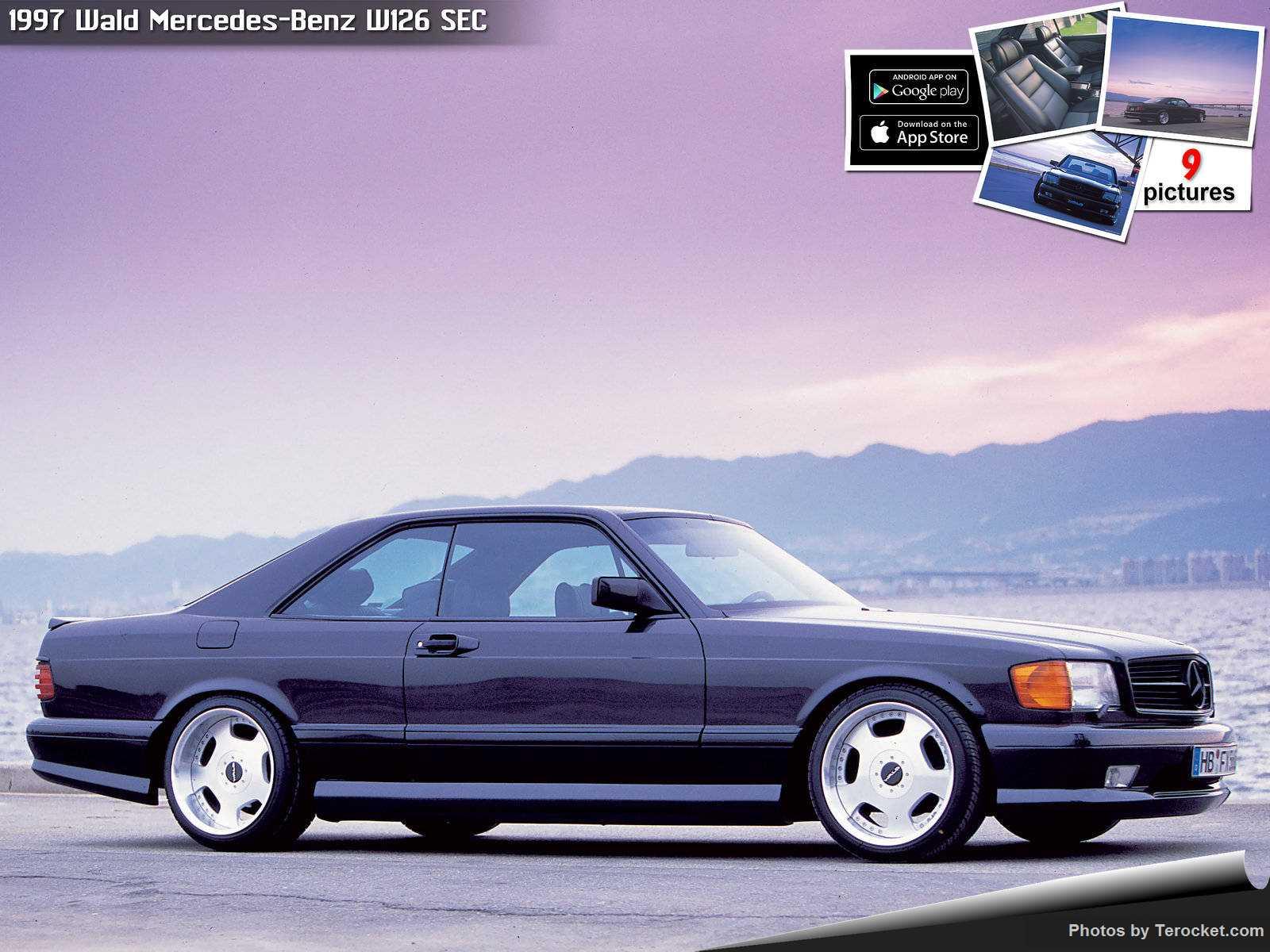 Hình ảnh xe độ Wald Mercedes-Benz W126 SEC 1997 & nội ngoại thất