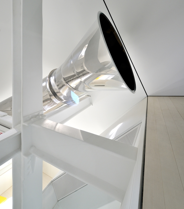 Slide entrance on the attic floor