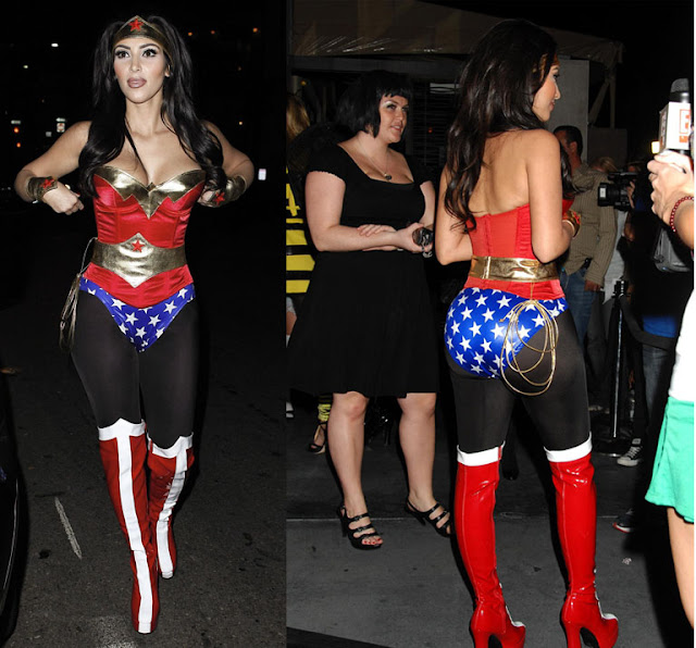 More pics of Kim Kardashian as Wonder Woman