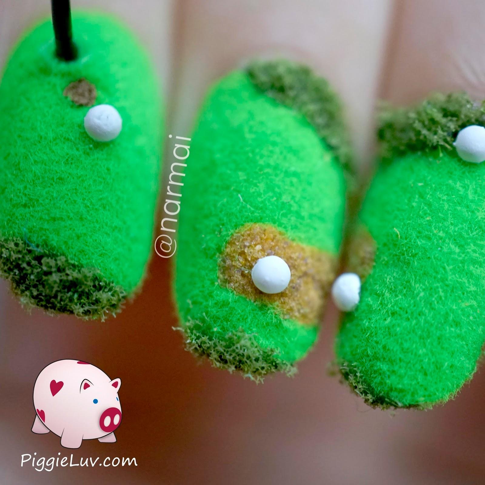 Piggieluv Fun 3d Golf Course Nail Art