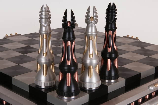Machine Metal Chess Set