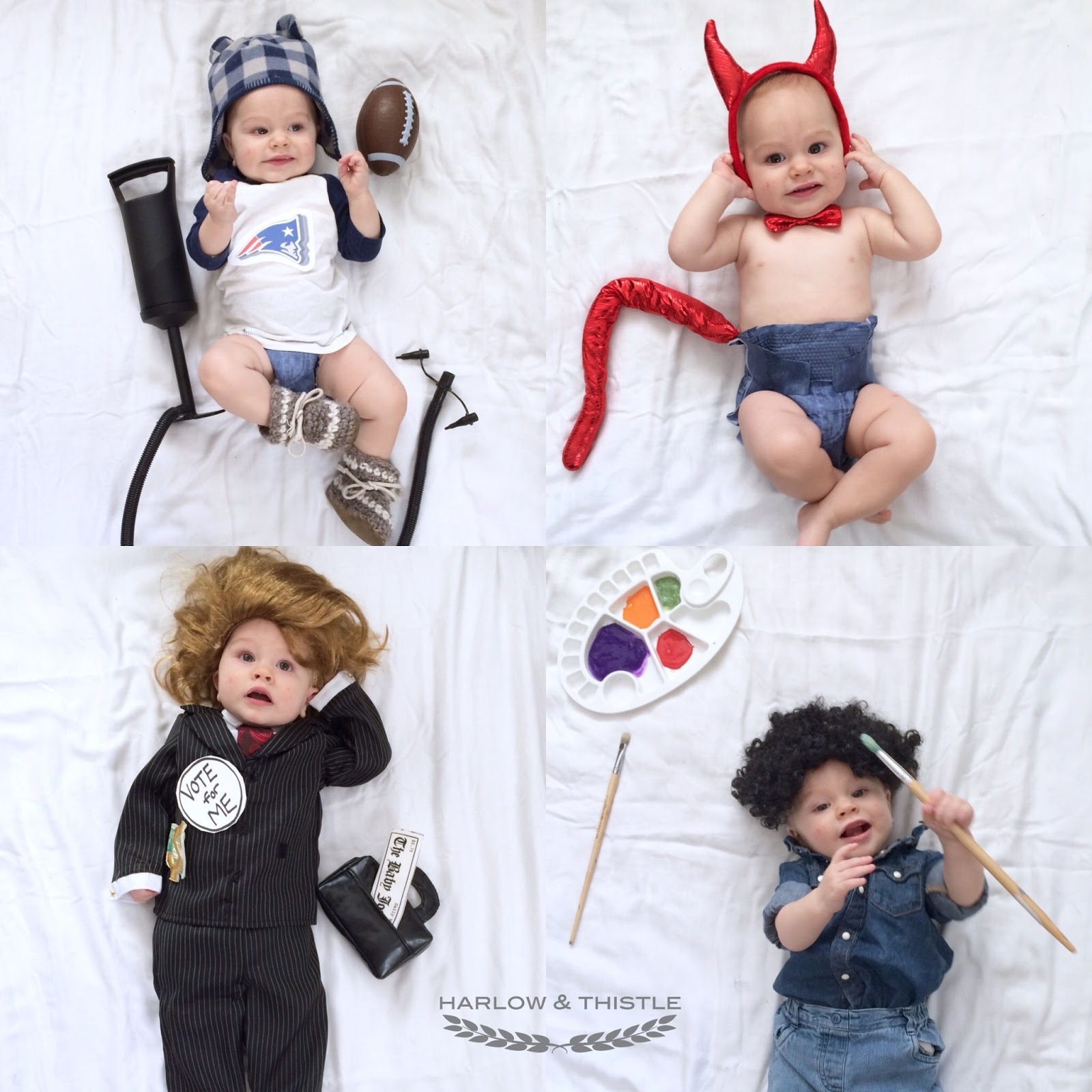 here are some cute diy baby halloween costume ideas for 2015 tom brady devil donald trump although this ended up looking more like hilary and bob ross - Diy Halloween Baby Costumes