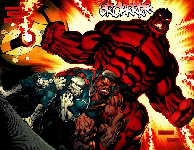 Hulk Rojo transformándose