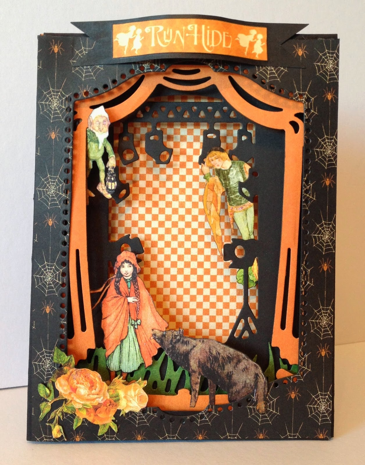 annes papercreations  graphic 45 an eerie tale xcut