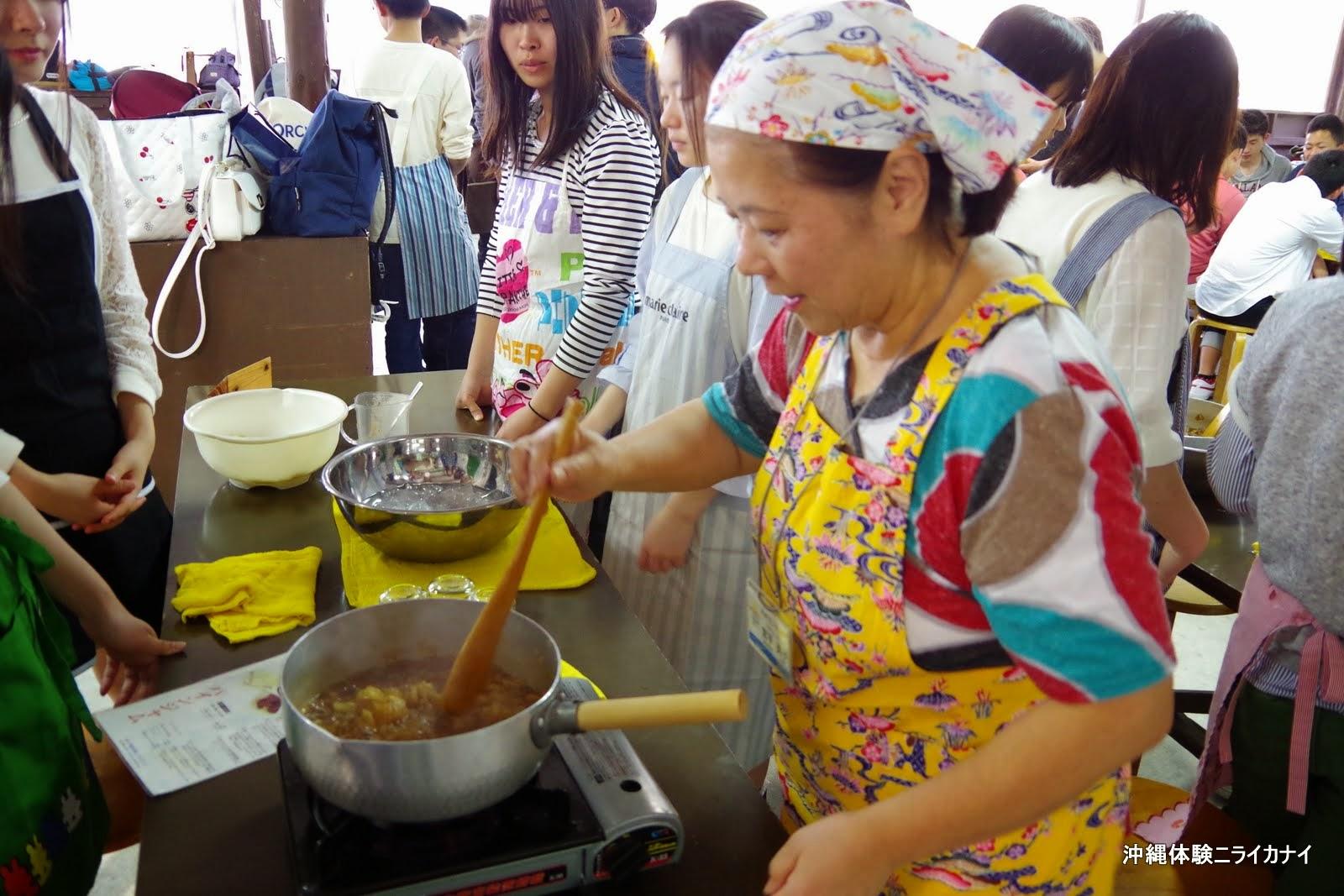 沖縄体験/観光パインジャム作り