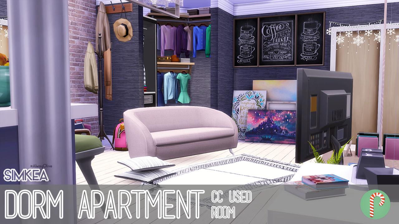 Decorating Ideas > My Sims 4 Blog Dorm Apartment By Simkea ~ 164505_Sims 3 Dorm Room Ideas