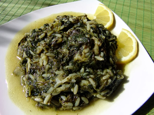 Photo: Spinach with rice recipe