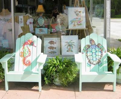 Painted Art Adirondack Chairs