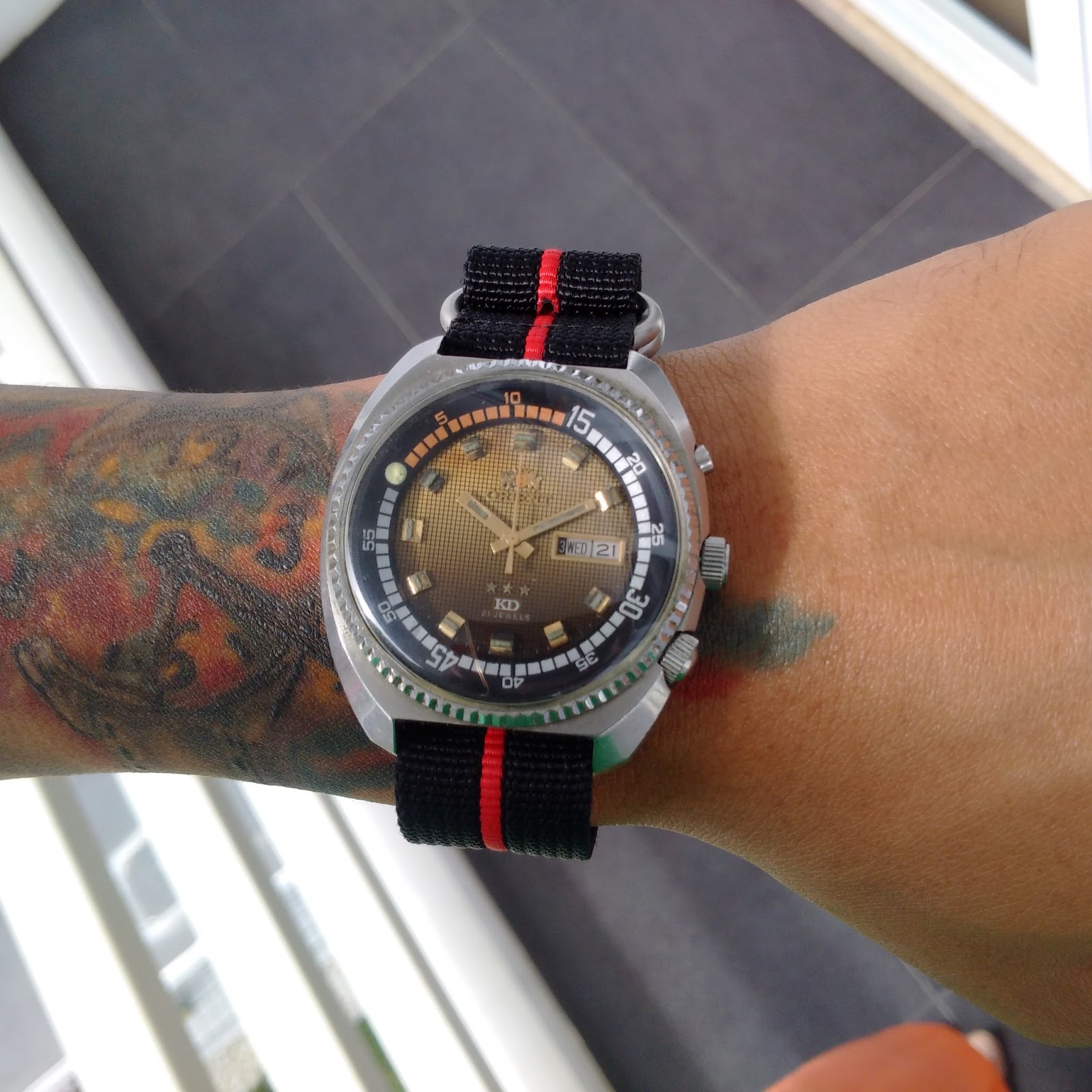 Orient King Divers KD Art gradasi dial