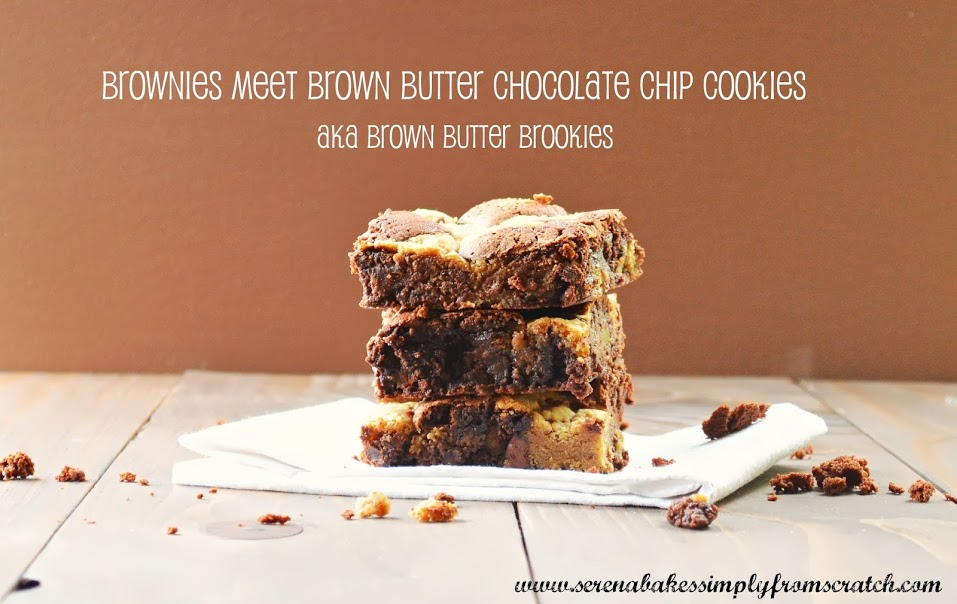 Brown Butter Chocolate Chip Cookie Brownie Bars aka Brown Butter Brookies