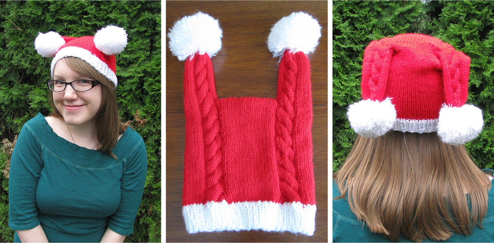 April Sprinkles: Double Tailed Santa hat