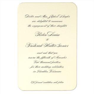 crane co - Royal Wedding Invitation