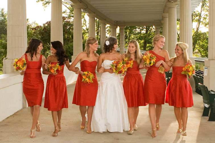 Bridesmaid dress style and color scheme