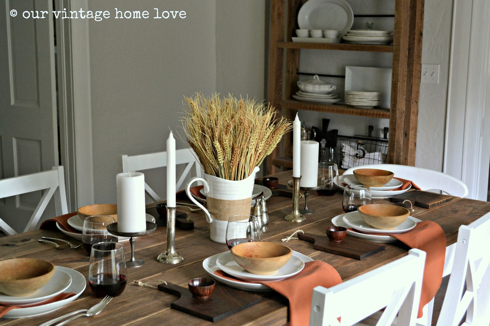 Table Decorations: Vintage Home Love: Autumn Table Decor And A Vintage