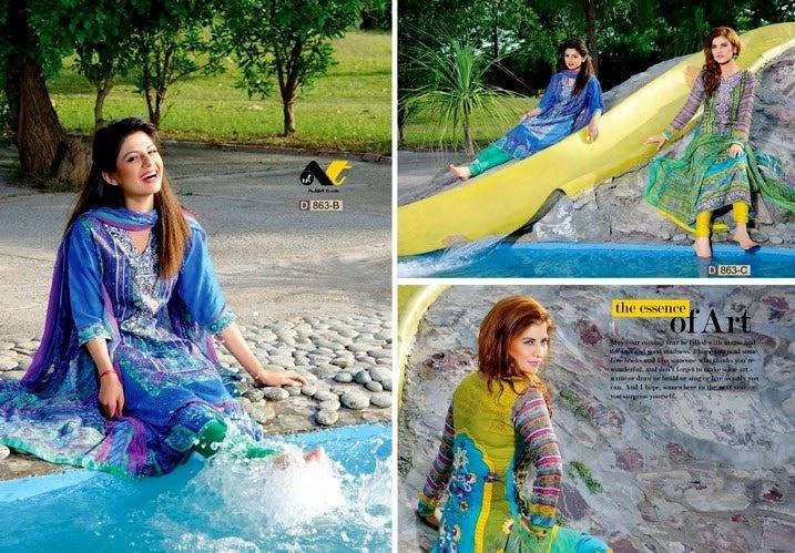 Ajwa Unique Krinkle Chiffon 2014 Vol-5