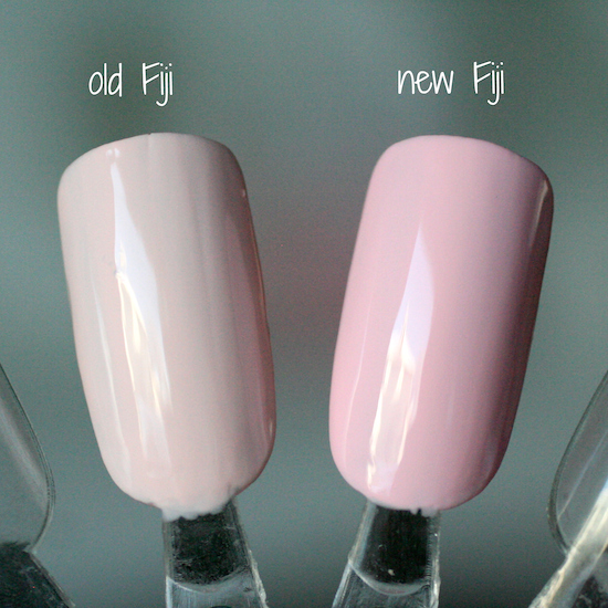 Even On The Swatch Stick Old Fiji Is Streaky And Uneven