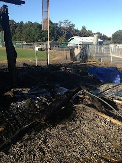 Fire Destroys EGHS Football Storage Shed