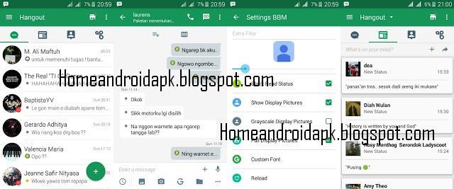 Download MOD BBM Hangout Based BBM Version  Download MOD BBM Hangout Based BBM V2.10.0.31