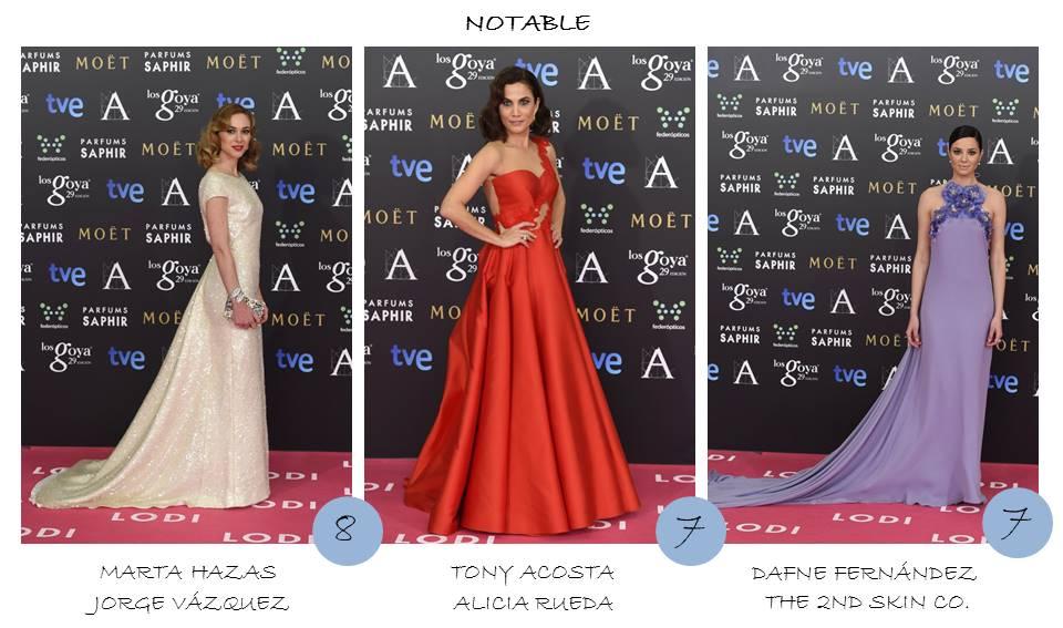 Notable OnlyNess alfombra roja Goya 2015
