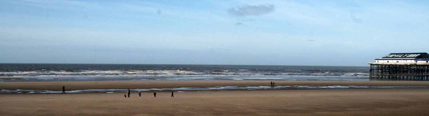 Blustery day but people still on the beach