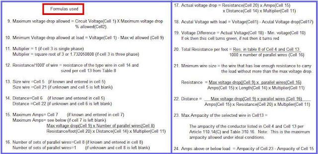 how to find voltage drop formula