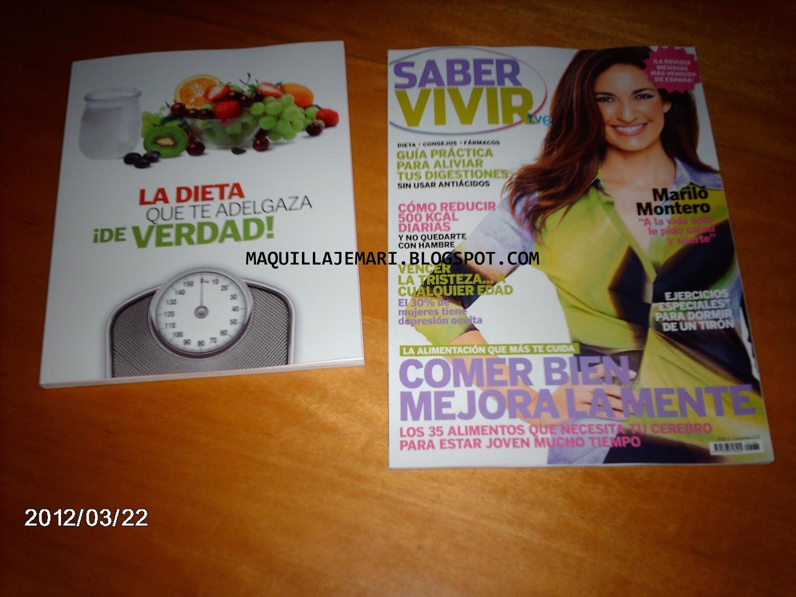 Revistas De Abril 2012  ~ Dieta Adelgazamiento Saber Vivir