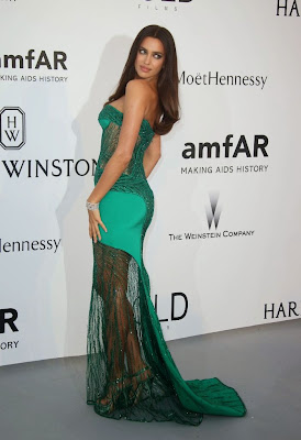 Irina Shayk Super Sexy Atelier Versace Strapless Dress at amfAR's 22nd Cinema Against AIDS Gala