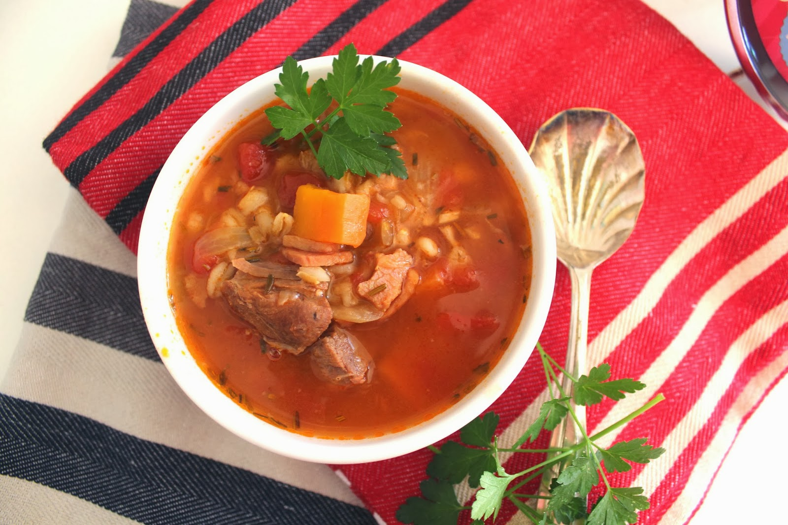 Slow Cooked Lamb with Vegetables and Pearl Barley | Desire Empire