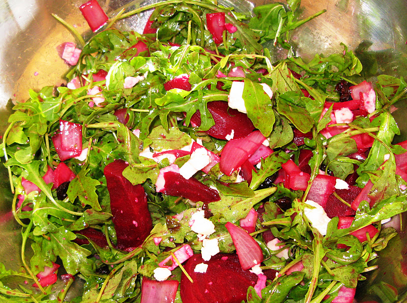 Beet and Feta Cheese Arugula Salad | Gluten Free Pantry