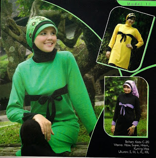 Mazaya Busana Muslim Hitam ungu Kuning emas Hijau