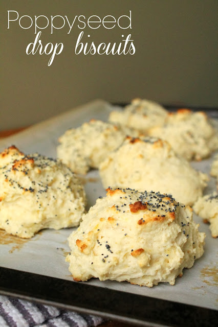 Poppy Seed Drop Biscuits via @labride