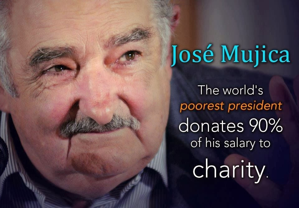 President Of Uruguay, Donates 90% Of Salary To Charity