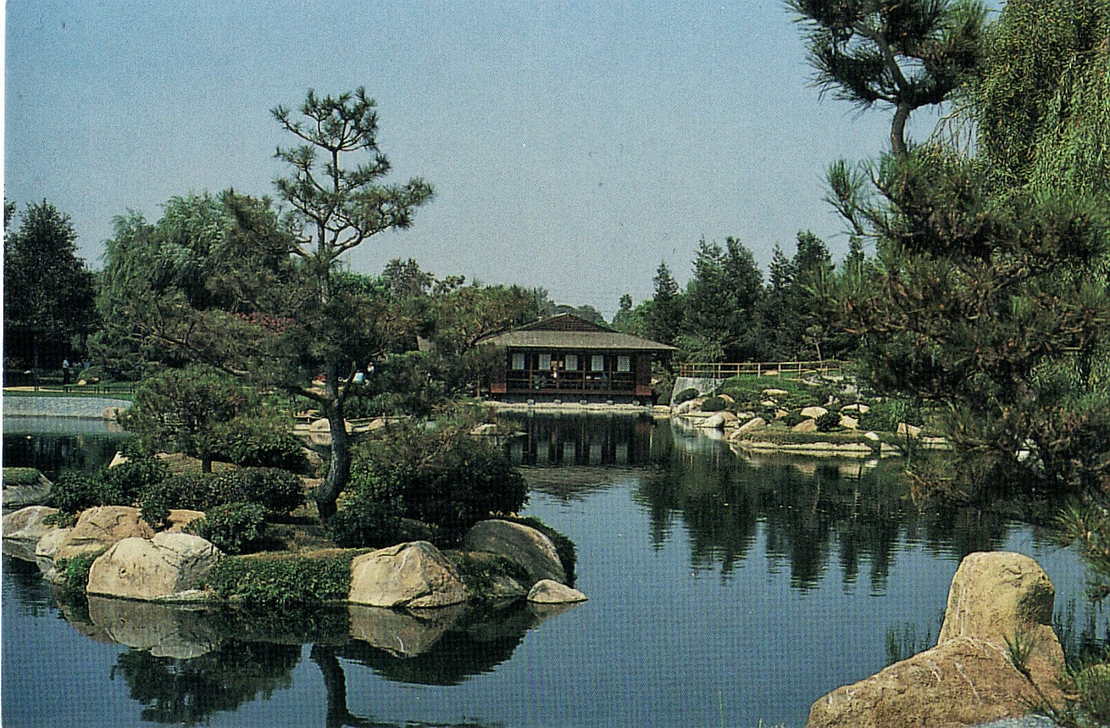 Japanese Garden At The Donald C Tillman Water Reclamation Plant In Van Nuys Postcard San