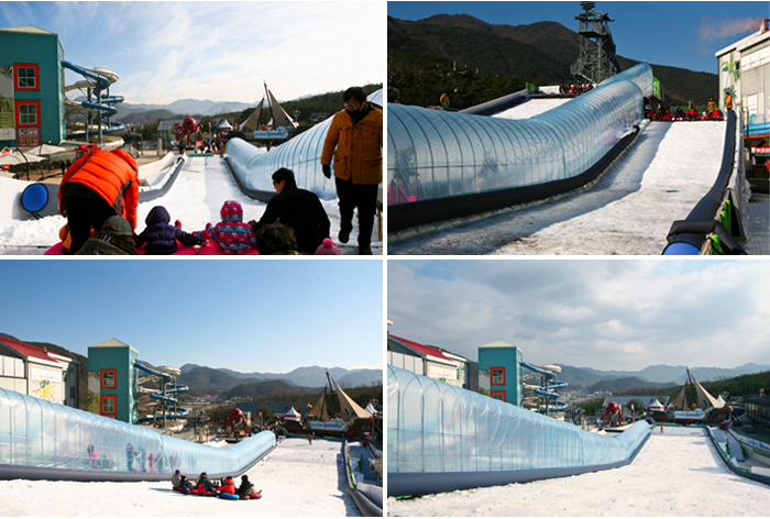 Sledding slope in Gachang Spavalley