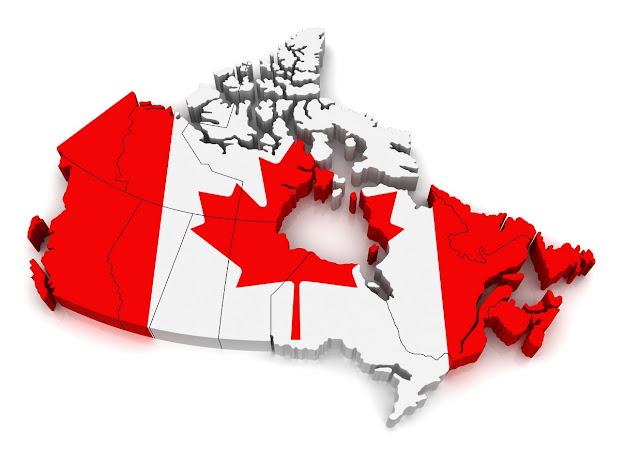 Canada 3D Flag Map